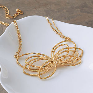 Butterfly Sculpture Necklace - jewellery for women