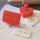 'Home Made' Or 'Eat Me' Stamp Cookie Cutter Sale