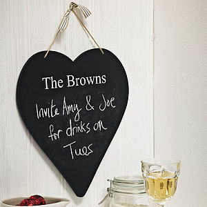 Personalised Heart Chalkboard - gifts for her