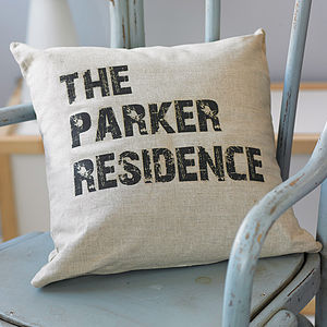 Personalised Home Cushion - new home gifts