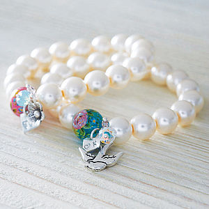 Handmade Initial Pearl Bracelet - gifts for her