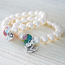 Handmade Initial Pearl Bracelet