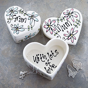Personalised Ceramic Heart Box - bedroom