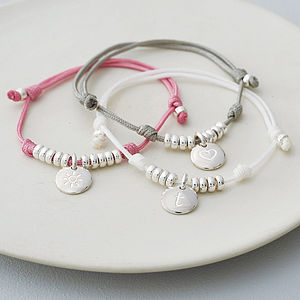 Personalised Silky Cord Friendship Bracelet - gifts for her