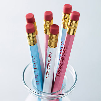 Set Of Six Compliment Pencils