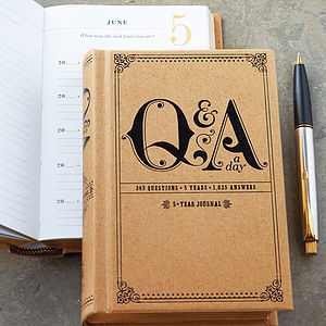 Question A Day Five Year Journal - advertising & media