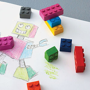 Pack Of Building Block Crayons - gifts for children