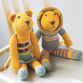 Hand Knitted Lion Soft Toy - express gifts