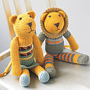 Hand Knitted Lion Soft Toy
