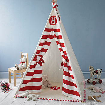 Striped Initial Play Teepee