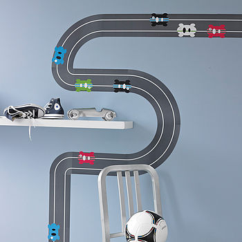 Race Track Wall Sticker