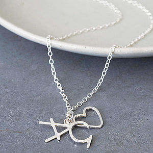 Personalised Heart And Initial Charm Pendant - best birthday gifts under £50