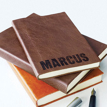 Personalised Leather Bound Notebook