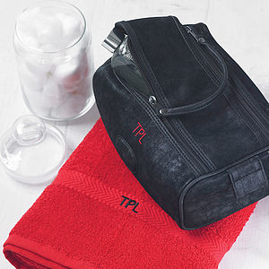 Personalised Men's Wash Bag - frequent traveller