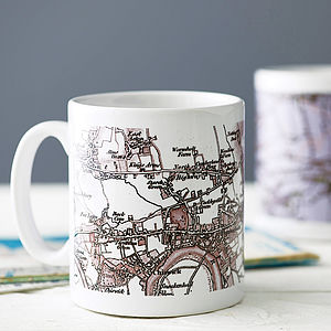 Personalised Map Mug - frequent traveller