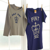 'Pint' And 'Half Pint' T Shirts For Dads And Kids - father's day