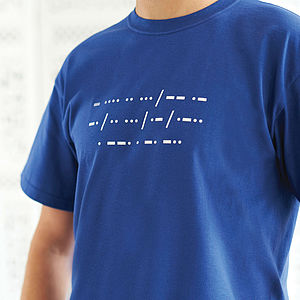 Personalised Men's Morse Code T Shirt - for travel-lovers