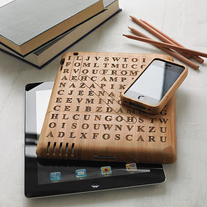 Personalised Word Search Cover For Ipad - men's accessories