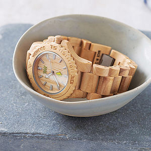 Wooden Watch - mens city style