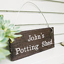 Personalised Engraved Slate Garden Sign