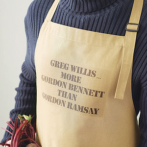 Personalised Men's Chef Apron - aspiring chef