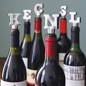 Alphabet Wine Bottle Stopper - wedding gifts