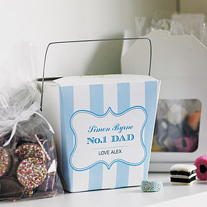 Personalised 'Dad' Sweet Gift Box - gifts for fathers