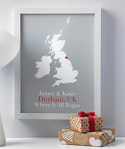 'Where It All Began' Personalised Print - gifts for couples