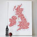 UK And Ireland Symbol Map Print