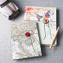Vintage Map Notebook Or Sketchbook
