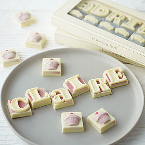 Personalised Chocolate Shapes And Letters - gifts for her