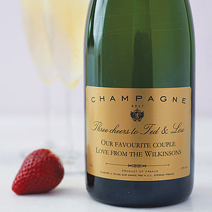 Personalised Champagne Gift Box - gifts under £50