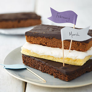 Three Months Cake Slice Club - christmas food and drink gifts