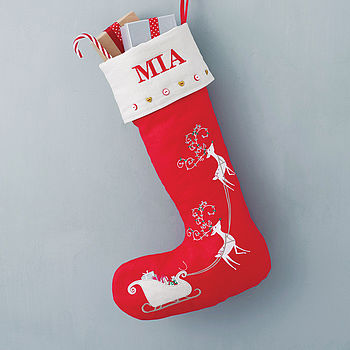 Personalised Sleigh Christmas Stocking