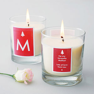Personalised Christmas Candle - gifts for families