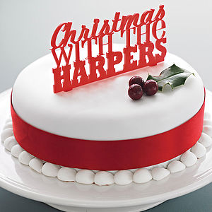 Personalised Christmas Cake Topper - view all sale items