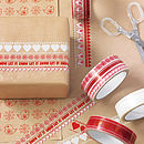 Decorative Heart And Robin Kraft Wrap Christmas Set