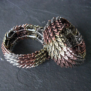 Tricolor Feather Bracelet - bracelets & bangles