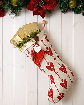 Personalised Love Christmas Santa Stocking