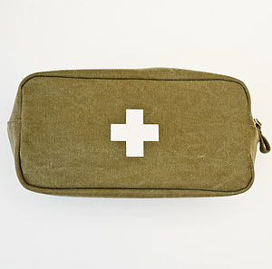 'Apothecary' Canvas Wash Bag