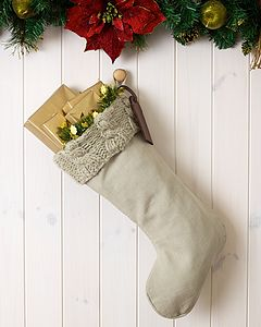 Personalised Cable Knit Santa Stocking