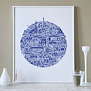 Typographic Paris Map Print