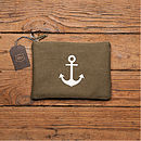 Anchor Maritime Mens Washbag Or Pencil Case