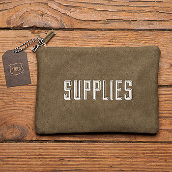 'Supplies' Mens Washbag Or Pencil Case