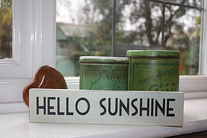 Hello Sunshine Wooden Sign
