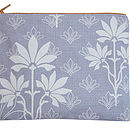 Printed Large Purse Grey