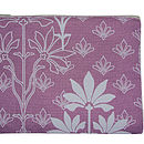 Printed Large Purse Violet