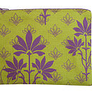 Printed Large Purse Lime