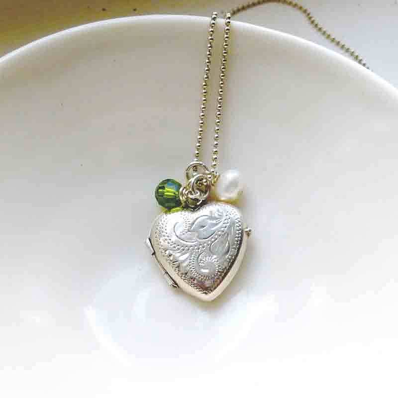 design locket necklace silver by lime vintage original heart tree product limetreedesign lockets