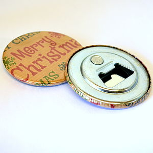 Christmas Magnetic Bottle Opener - storage & organising